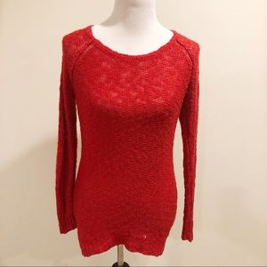 Red open Knit Sweater Size Small